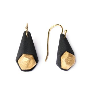 NITZ & SCHIECK | Calyx earrings, 3d printed nylon and stainless steel, gold plated