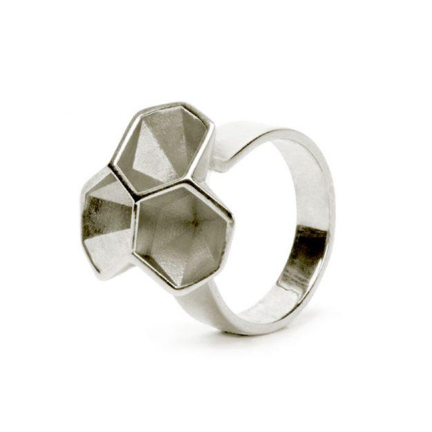 NITZ & SCHIECK | Calyx ring No. 2, 925 silver, 3d printed wax - then cast