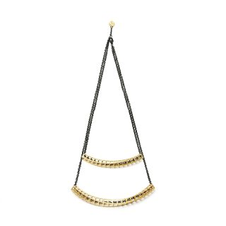 NITZ & SCHIECK | Cubetwist necklace, 3d printed stainless steel, gold plated