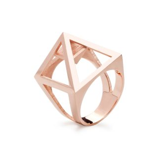 RADIAN | Nefertiti ring, brass 23,5k rose gold plated, 3d printed wax - then cast