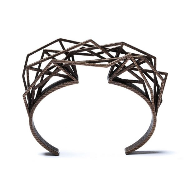 NITZ & SCHIECK | Solitaire bracelet, 3d printed stainless steel, bronze plated