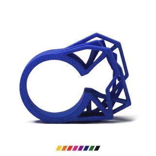 RADIAN | Solitaire ring, 3d printed nylon