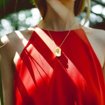NITZ & SCHIECK | Pit necklace, 3d printed stainless steel, gold plated
