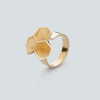 RADIAN | Calyx ring No. 2, brass, 3d printed wax - then cast, gold plated