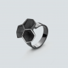 RADIAN | Calyx ring No. 2, 925 silver, 3d printed wax - then cast, black rhodium plated