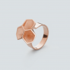 RADIAN | Calyx ring No. 2, brass, 3d printed wax - then cast, rosegold plated