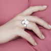 RADIAN | Calyx ring No. 2, 925 silver, 3d printed wax - then cast