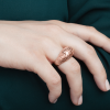 3d printed Crystal ring by RADIAN jewelry - rose gold plated brass