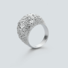 3d printed Crystal ring by RADIAN jewelry - 925 silver