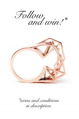 3D printed jewelry by RADIAN | Win a 3D printed ring by RADIAN. Follow on Pinterest.