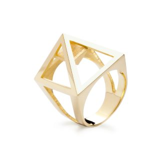 RADIAN | Nefertiti ring, brass 23,5k gold plated, 3d printed wax - then cast