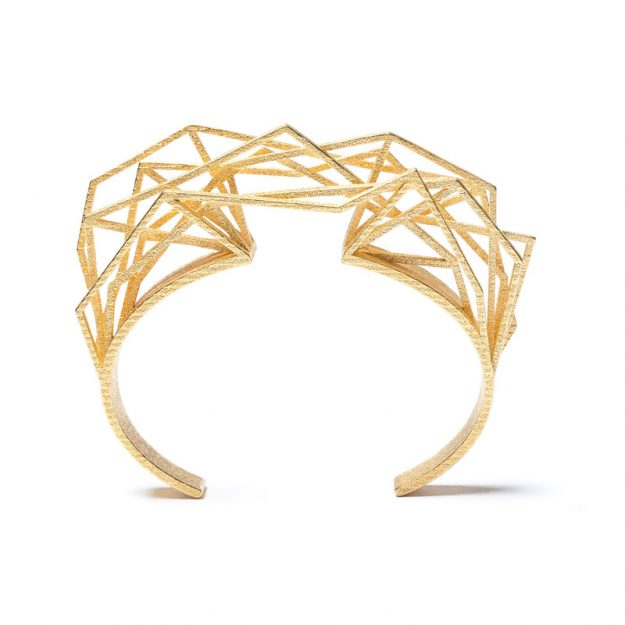 NITZ & SCHIECK | Solitaire bracelet, 3d printed stainless steel, gold plated
