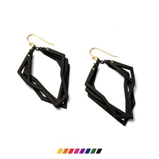 RADIAN | Solitaire earrings, 3d printed nylon