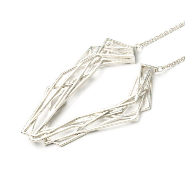 NITZ & SCHIECK | Solitaire necklace, 925 silver, 3d printed wax - then cast