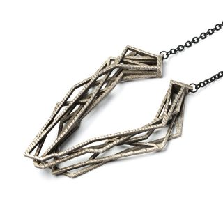 NITZ & SCHIECK | Solitaire necklace, 3d printed stainless steel