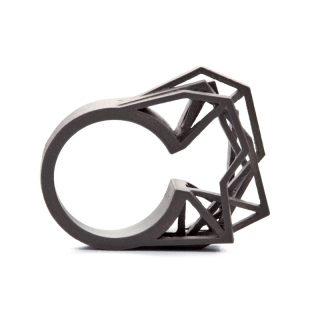 RADIAN | Solitaire ring, 3d printed titanium