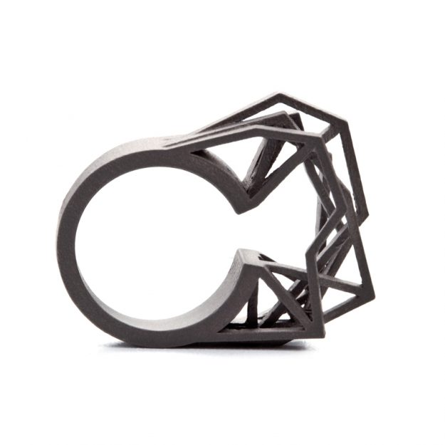 jewelry shapeways design metal bashiba shop rings printed on