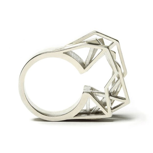 NITZ & SCHIECK | Solitaire ring, 925 silver, 3d printed wax - then cast